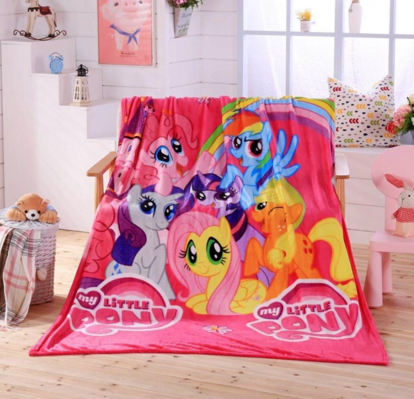 [READY STOCK] My Little Pony Coral Fleece Blanket Bigger Size 1.5x2M